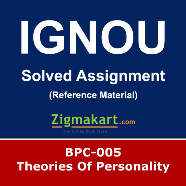 Ignou bpc-005 Solved Assignment