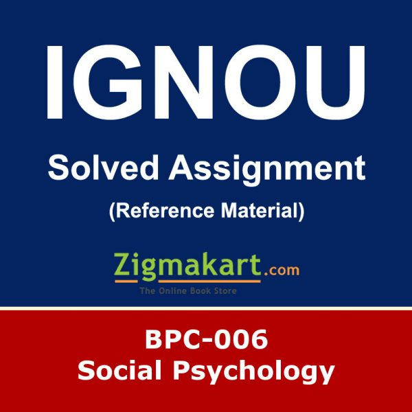 Ignou bpc-006 Solved Assignment