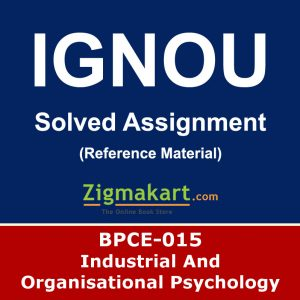Ignou BPCE-15 Solved Assignment