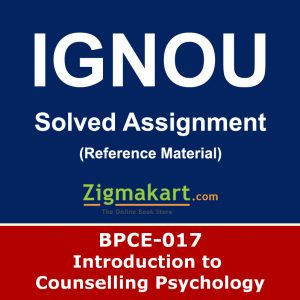 Ignou BPCE-17 Solved Assignment