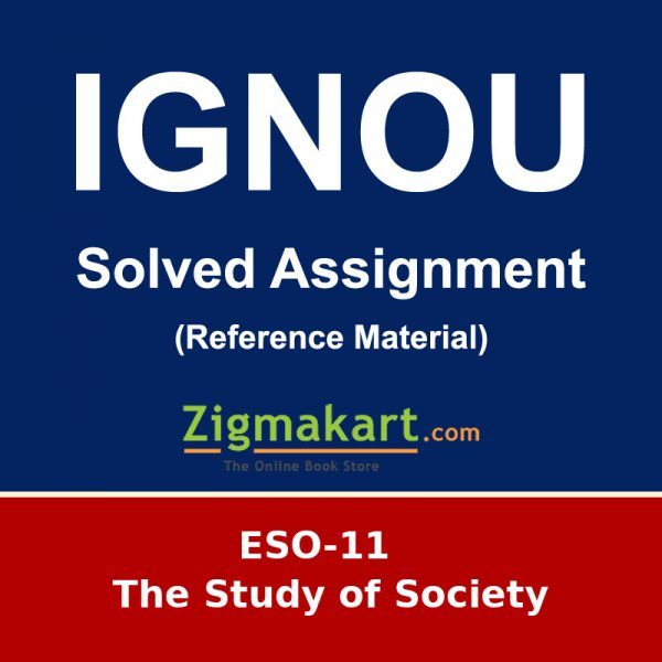 IGNOU ESO-11 B.A Sociology Solved Assignment