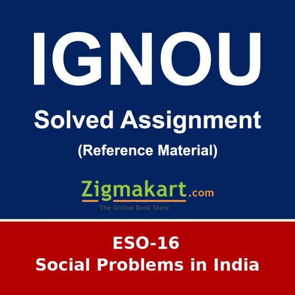 IGNOU ESO-16 Solved Assignment
