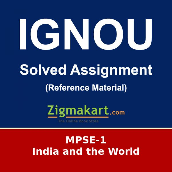 IGNOU MPSE-1 MA Political Science Solved Assignment