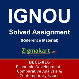 Ignou BA Economics Solved Assignment