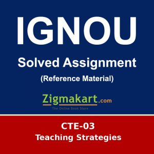 IGNOU CTE-03 solved assignment