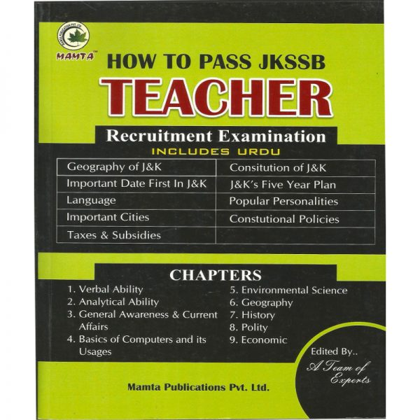 JKSSB Urdu Teacher Recuitment Exam