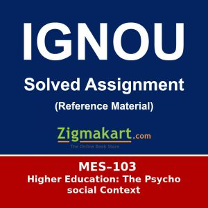MES-103 Ignou Solved Assignment