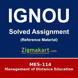 MES-114 Ignou Solved Assignment