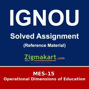 MES-15 Ignou Solved Assignment