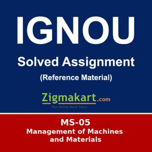 MS-05 Ignou Solved Assignment