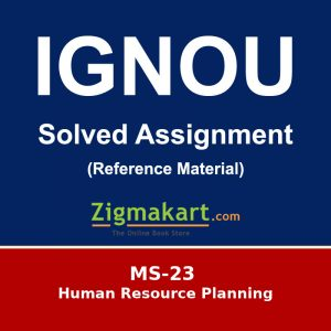 MS-23 Ignou Solved Assignment