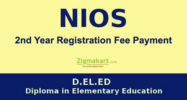 NIOS DELED 2nd Year Fee Payment registration online