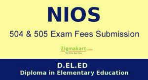 NIOS DELED 2nd Exam Fees Submission