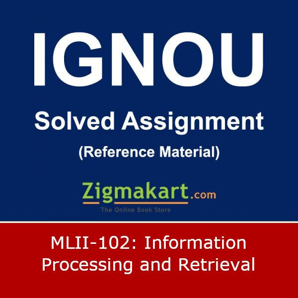 IGNOU MLII-102 Solved Assignment