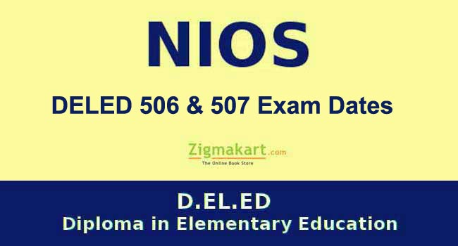NIOS DELED Exam Date