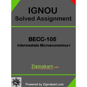BECC-105 Solved Assignment