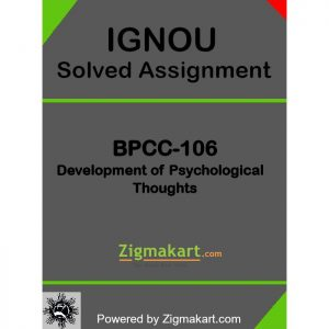 BPCC-106 Solved Assignment
