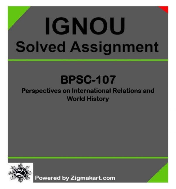 IGNOU BPSC-107 Solved Assignment
