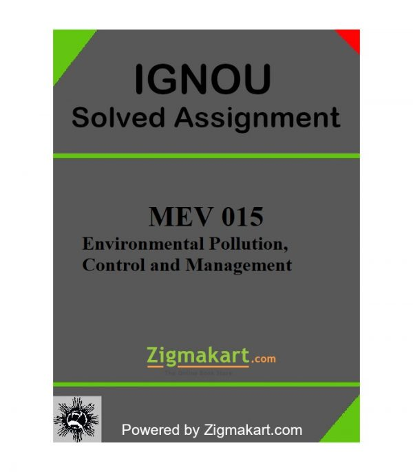 IGNOU MEV 015 Solved Assignment