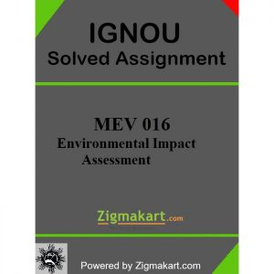IGNOU MEV-016 Solved Assignment