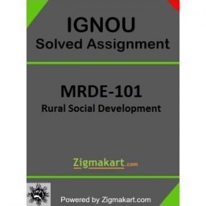 IGNOU MRDE 101 Solved Assignment
