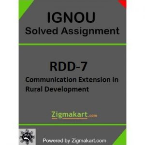 IGNOU RDD 7 Solved Assignment