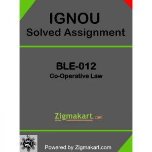 IGNOU BLE 012 Solved Assignment