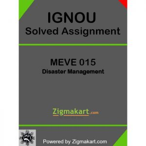 IGNOU MEVE 015 Solved Assignment