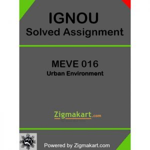 MEVE 016 Solved Assignment